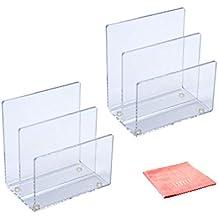 Umi. Essentials, Portadocumenti in acrilico trasparente, 2 pezzi,  15,3 x 10,3 x 16,4 cm