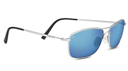 Serengeti corleone occhiali da sole con lenti polarizzate, lente blu/grigio, s/m