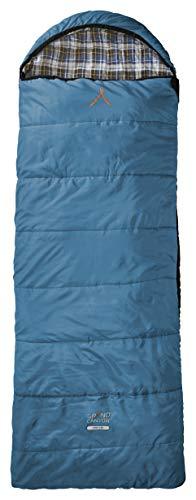 Grand Caynon Utah - warmer Deckenschlafsack, besonders weich und angenehm durch Baumwoll-Flanel im Innenbezug, 3-Jahreszeiten, Extrem: - 20°, für Camping, Outdoor, Festival, blau, 301012