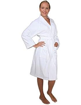 Damenbademantel-Archee, 100% Baumwolle-Frottee, kurz geschnitten, im Kimono-Still