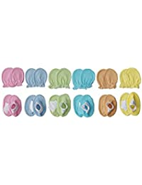 Aarushi Infants Cotton Mittens and Booties (ARSH_44, Multicolour, 3-6 Months)-Pack of 6
