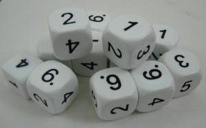 Digit Dice 1-6 for use with Operations Dice PDF