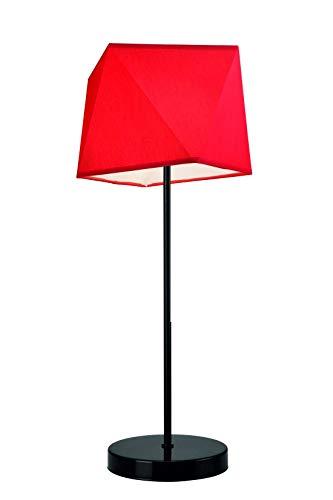 Lámpara de mesa de tela roja de 52,5 cm de alto, moderna, elegante ...