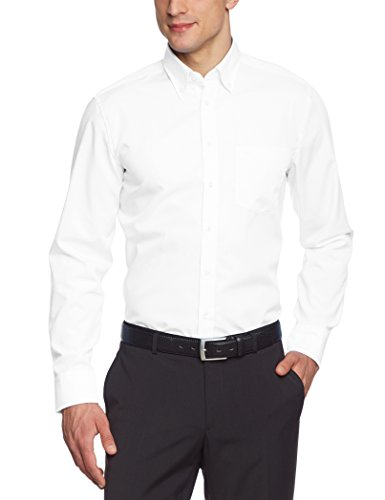 Seidensticker Herren Business Hemd Modern Fit , Weiß (White 0001) , 43