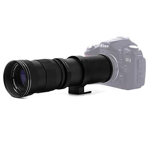 Jintu 420–800mm F/8,3-16Top téléobjectif à mise au point manuelle plein format pour Nikon D7100D80D90D600D5000D5100D3200D7000D7200DSLR appareil photo numérique + sacoche en cu