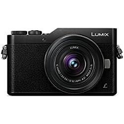 Panasonic Lumix Appareil Photo Hybride Compact DC-GX800KEFK +Lumix 12-32 F3.5-5.6 (Capteur 4/3 16MP, Écran inclin. tact., AF DFD, Vidéo 4K, Modes Selfies créatifs, Wifi) Noir - Version Française