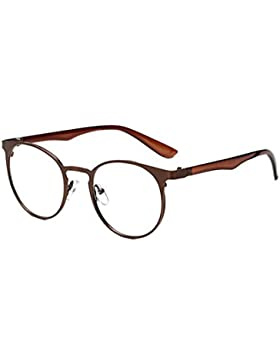 Yefree Men Women Anti Blue Light Glasses Fashion Round Eyeglasses Clear Lens Glasses