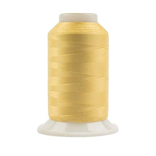 WonderFil, Specialty Garn, InvisaFil, 2-lagig, Baumwolle, weiches Polyester, seidenähnliches Garn für feine Nähte, 100 Wt - Soft Gold, 2500 m