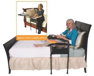 Betttisch/Stange für Transferbrett mit Unterstützung Fußbodenheizung + ein Aufbewahrungstasche