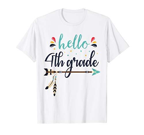 Zurück Kostüm Schule Zu - Hello 4th Grade Lehrer zurück zum ersten Schultag 1 T-Shirt