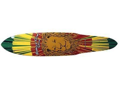 Dregs Rasta Lion Longboard Pintail Deck 9 X 44 inch (Arbor Deck Longboard Pintail)