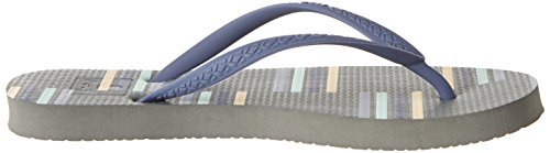 Reef Escape, Tongs Femme Multicolore (Grey/Stripe)