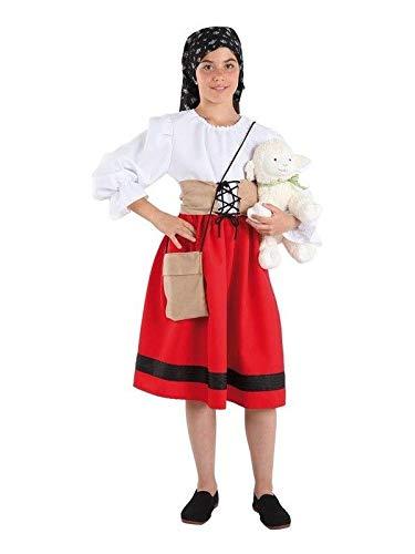 DISBACANAL Disfraz pastora Infantil - Único, 10 años