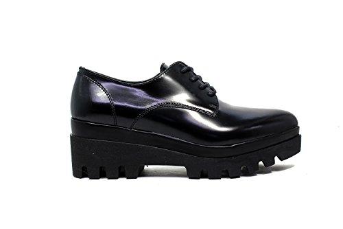 Janet Sport francesina donna con zeppa bassa 38787 scarpa lego nero/nero f 256 nuova collezione autunno inverno 2016 2017 nuova collezione autunno inverno 2016 2017