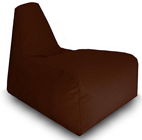 Sitzsack Sitzbag Gamer Sport Racing Gaiming Lounge Sessel In & Outdoor Sitzsäcke Stuhl Kissen Sofa Hocker Sitzkissen Bodenkissen mit Styropor Füllung-in verschiedene Farben-Bag Sitzsäcke Möbel (Braun)