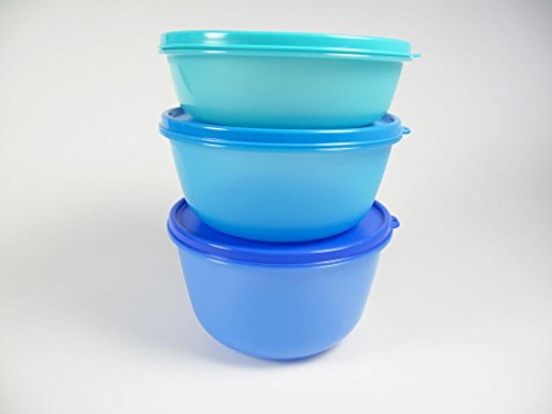 TUPPERWARE Set Ciotole Multiple 2L + 1,5L + 1L blu turchese
