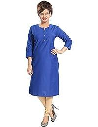 Meher Impex Pure Cotton Blue Long Kurti