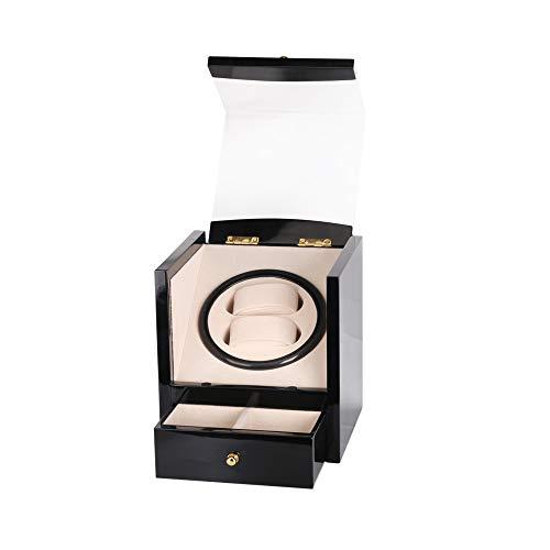 HKHJ Scatola Carica Orologi Automatici Meccanici 2+2 Doppio Strato Contenitore Regalo in Legno Silenzioso Automatic Watch Winder
