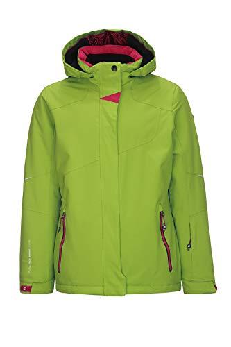Killtec Mädchen Xia Jr Skijacke Mit Kapuze Und Schneefang, Lime, 116   04056542954611