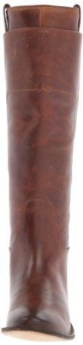 FRYE Women's Paige Tall Riding Boot, Cognac Burnished Full Grain, 6.5 M US Cognac Burnished Full Grain-77535