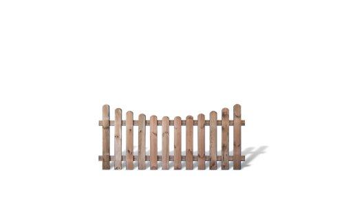 """Günstiges Vorgartenzaun + Friesenzaun Element im Maß 180 x 80 auf 65 cm (Breite x Höhe) aus Kiefer/Fichte Holz, druckimprägniert\""""Günstig & Gut\"""""""