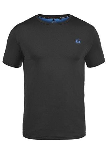 BLEND ATHLETICS Eriot Herren T-Shirt Kurzarm Shirt mit Rundhalsausschnitt Sportshirt Funktions-Obertei, Größe:M, Farbe:Black (70155) (Athletic-baseball-t-shirt)