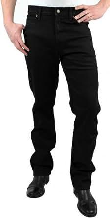 Wrangler - Jeans Regular Stretch - Noir, Taille: W40 L34