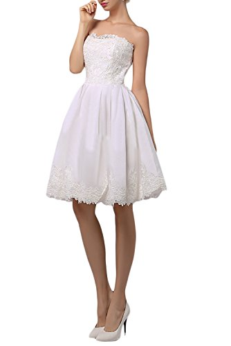 Victory Bridal - Robe - Trapèze - Manches Longues - Femme Weiß