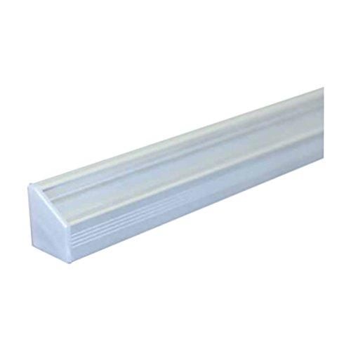 (14,95 €/m) Aluprofil 2m Aufbau Aluminium Eckprofil Profil – für LED Lichtband bis 10mm (2m opal) - 4
