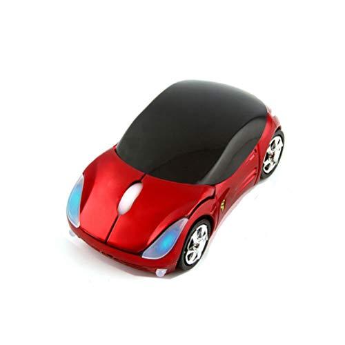 3C Kingdom Cool Sport Auto Gestalten Maus 2.4GHz Kabellos Auto Maus Ultra klein Optisch Maus Mini Office Mäuse für PC Computer Laptop Kinder oder Mädchen (Rot)