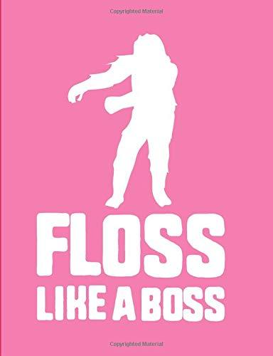 Floss Like A Boss: Pink Bigfoot Wide Ruled Composition Notebook por FruitFlyPie Books