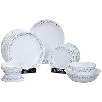 Buy Corelle Lilac Blush Glass Dinner Set 21 Pieces White