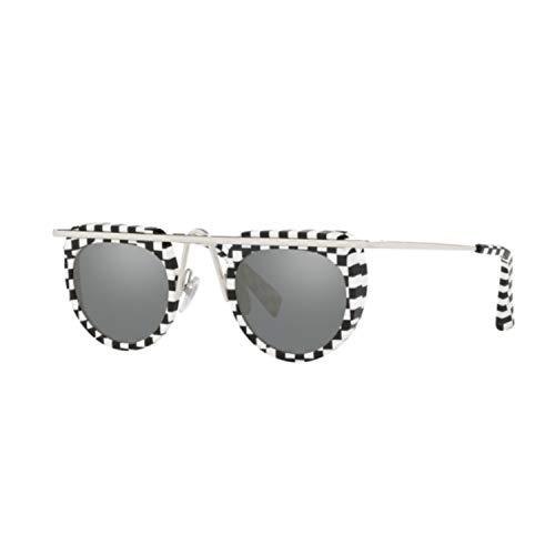 Alain mikli occhiali da sole donna 4011 001/6g nero rotondo lenti specchiate a specchio tondo