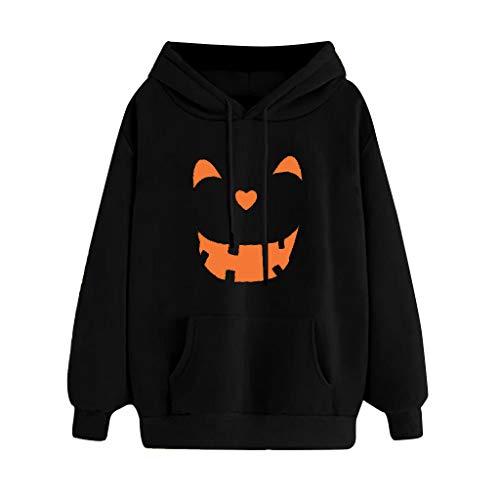 TEFIIR Damen Sweatshirt mit Kapuze, HalloweenHochwertig verarbeitet - kuschelig & Warmer Pullover Lose Bluse Geeignet für Freizeit, Urlaub und Dating