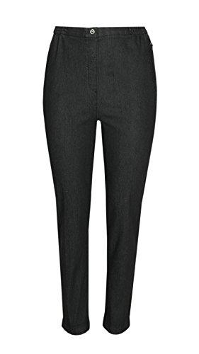 Damen Stretch Jeans Schlupfhose Schlupfjeans K-Größen - Herbst Kollektion-Schwarz-22