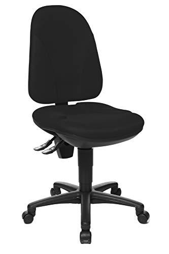 Topstar Point 35, Bürostuhl, Schreibtischstuhl, Rückenlehne höhenverstellbar, Bezugsstoff schwarz -
