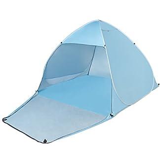 Tecare Pop Up Carpa Anti-UV 50+ para 3-4 Persona / Camping / Mochilero / Senderismo / Ligero / Fácil Configuración al aire libre Tienda de tentempiés de playa