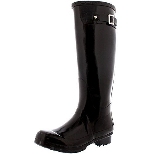 Womens Original Tall Gloss Winter Waterproof Wellies Rain Wellington Boots