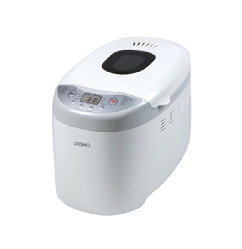 Domo B3958 Plata, Color blanco - Panificadora (Plata, Blanco, 1,25 kg, Pastel de masa, Masa, Pan francés, Pan sin gluten, 750 g, 13 h, 60 min)