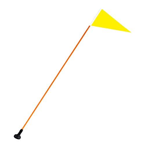 SaniMomo Hochsichtbare Gelbe Kajak Sicherheitsflaggen Wimpelhalterung Mit Schwarzer Basis, Stange Zum Kajakfahren, Segeln, Angeln