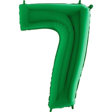 Riesige grüne Nummer '7' Ballon-Dekoration - Partyangebot