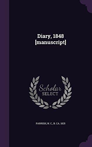 Diary, 1848 [manuscript]