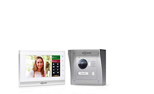 150 Video (GOLIATH IP 2 Draht Video Türsprechanlage mit 1,3 Megapixel Kamera 150°, 7