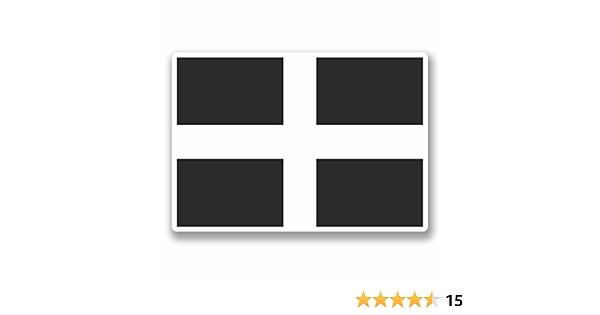 Vinyl Aufkleber 9683 Cornwall Flagge 10 Cm Breit X 7 Cm Hoch 2 Stück Auto