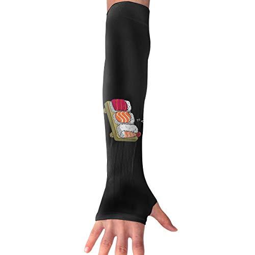 Sleeping Sushi Langarm Handschuh Sonnenschutz Armmanschette mit Daumenlöchern