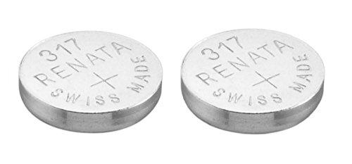 2 x Renata 317 Uhren Batterie Schweizer Herstellung Silberoxid 1,5V (SR516SW)