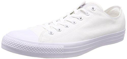 Converse Unisex-erwachsene Ctas Sneaker Monocromatico Bianco-bianco-stagionale Weiß (bianco Monocromo 137)