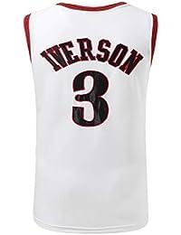 Basport Philadelphia 76ers No.3 Allen Iverson Jersey Uniforme de Baloncesto Masculino de la NBA