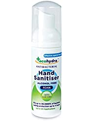 EcoHydra Antibacterial Hand Sanitiser Foam 50ml   Alcohol Free, Kills up to 40X More Germs than Regular Hand Sanitizers   Perfect Travel Hand Sanitiser - Moisturising, Kind to the Skin, Cruelty Free