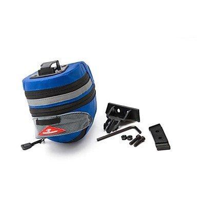 ZQ Fahrrad Saddle Bag (rot/schwarz/blau, 600d Ripstop, 5l) Wasserdicht/A Test-Regen/Reißverschluss Wasserdicht/Kompakt Radsport, Rot